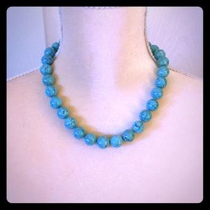 Jewelry - Turquoise large beaded necklace